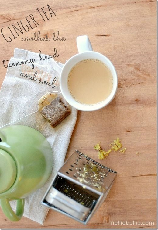 ginger tea recipe: from NellieBellie