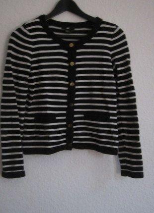 Kaufe meinen Artikel bei #Kleiderkreisel http://www.kleiderkreisel.de/damenmode/cardigans/138127461-cardigan-mit-streifen-von-hm