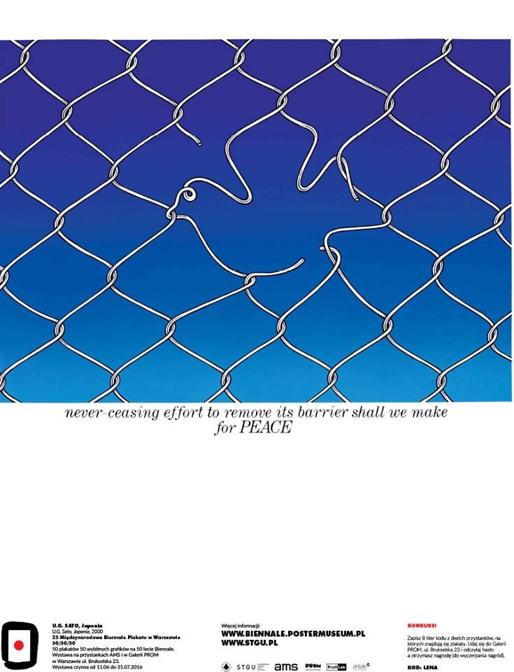 U.G. Sato, Japan - Peace, 2000 #50designers50posters50mbp #STGU #AMS #ASP