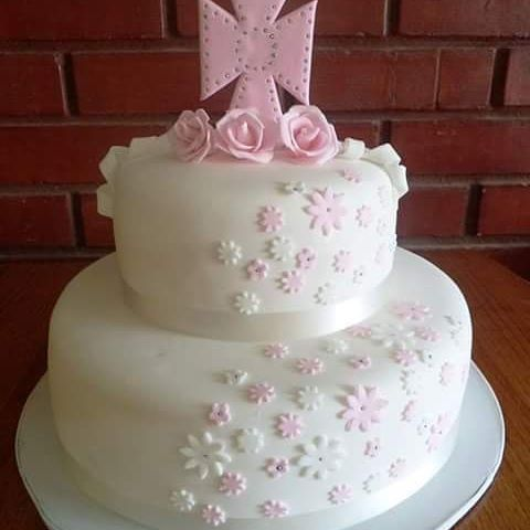 #Bautismo #Girl #fondant #cake by Volován Productos  #instacake #Chile #puq #VolovanProductos #Cakes #Cakestagram #SweetCake #baby