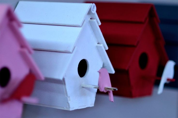Wall Mounted Birdhouses Detail