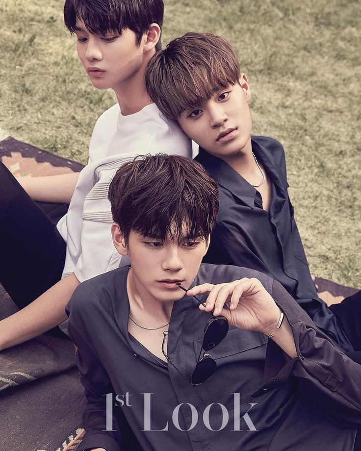 Seongwoo, Daehwi and Jinyoung for 1st Look Magazine.