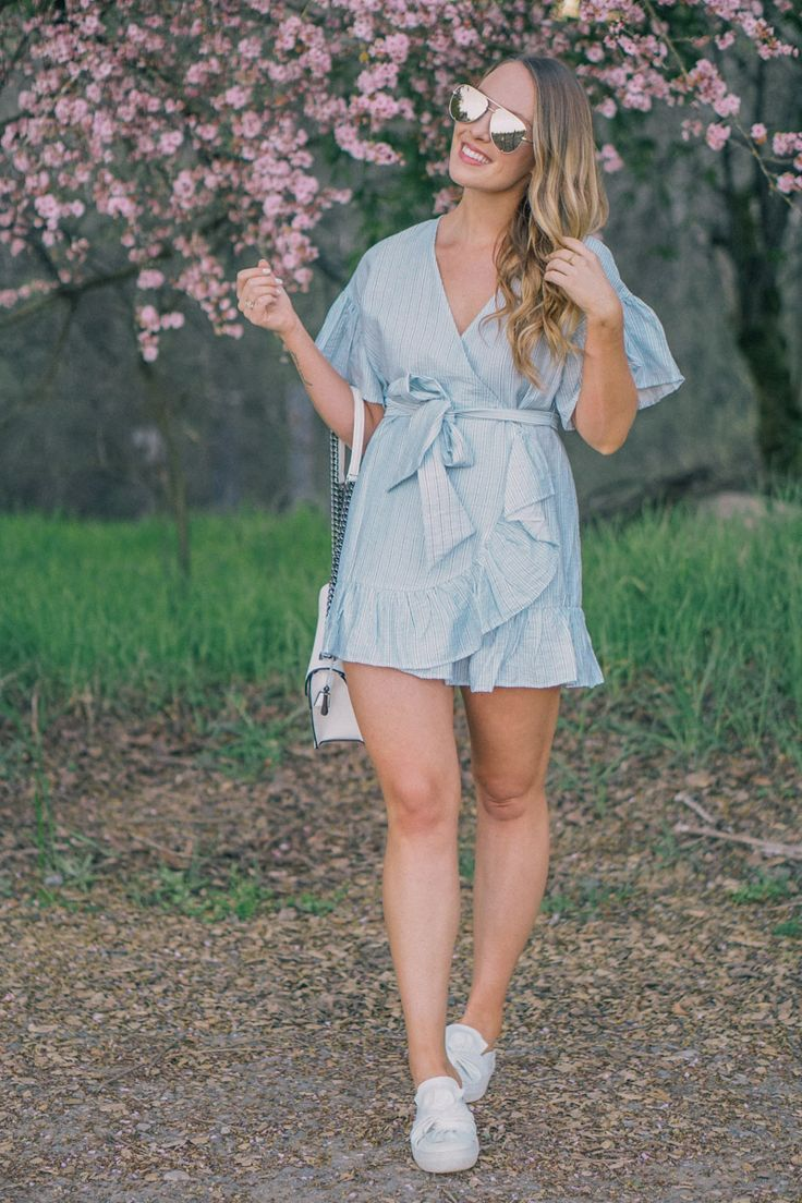 Springtime Wrap Dress, Springtime Style, #SpringStyle, Spring Style, Wrap Dress, #WrapDress, Sunnies, Quay Australia Sunnies, #Quay, Blogger Style, What to wear in springtime, what to wear for spring, blonde hair, blonde hair color, White Shoes, #WhiteKicks, #WhiteSneakers, #WrapDress, #NordstromFinds, Nordies Girl, Nordstrom Picks,