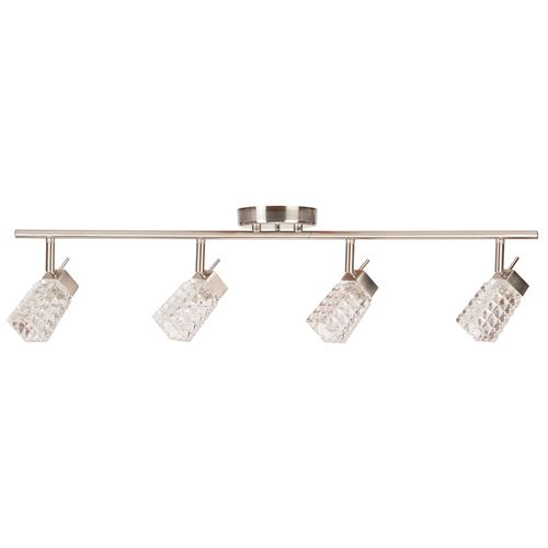 Globe Electric 58525 4 Light Track lighting Kit  Brushed Steel Finish with  Crystal Glass Track Heads141 best Lighting images on Pinterest   Lowes  Ceilings and Oil  . Rona Track Lighting. Home Design Ideas