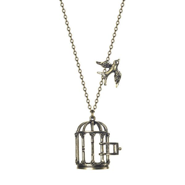 Vintage Style Bird Cage Necklace: Large Birdcages, Style Birds, Style Birdcages, Birdcages Necklaces, Birdcages Pendants, Vintage Style