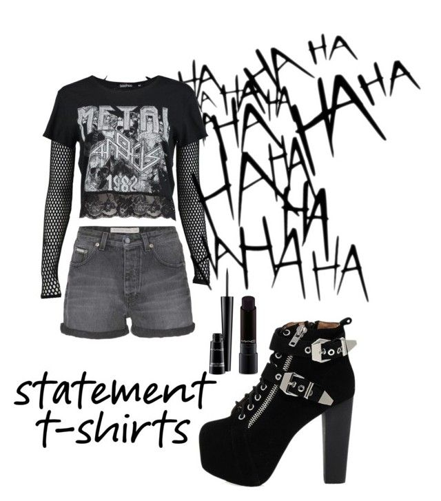 """BLACK"" by kleefashion on Polyvore featuring PAM, Boohoo, Calvin Klein Jeans, MAC Cosmetics and Jeffrey Campbell"