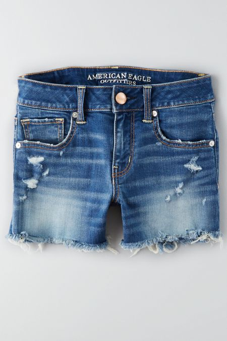 Our best fit ever. Revolutionary high performance stretch that's softer than ever before. Never loses its shape... so you can show off your assets all day (and night). Shop the AEO Denim X Midi Short  from American Eagle Outfitters. Check out the entire American Eagle Outfitters website to find the best items to pair with the AEO Denim X Midi Short .