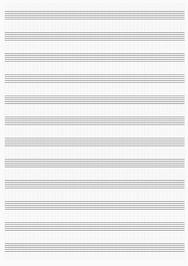 Нотная бумага для печати )PDF)