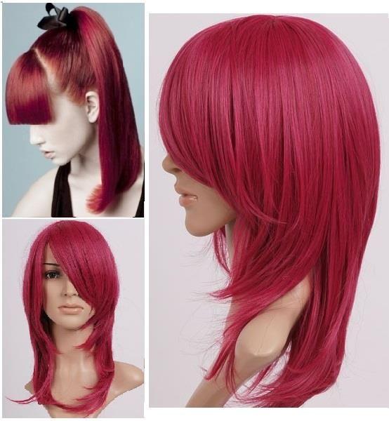 #Accociatura #capelli lunghi lisci:  #parrucca