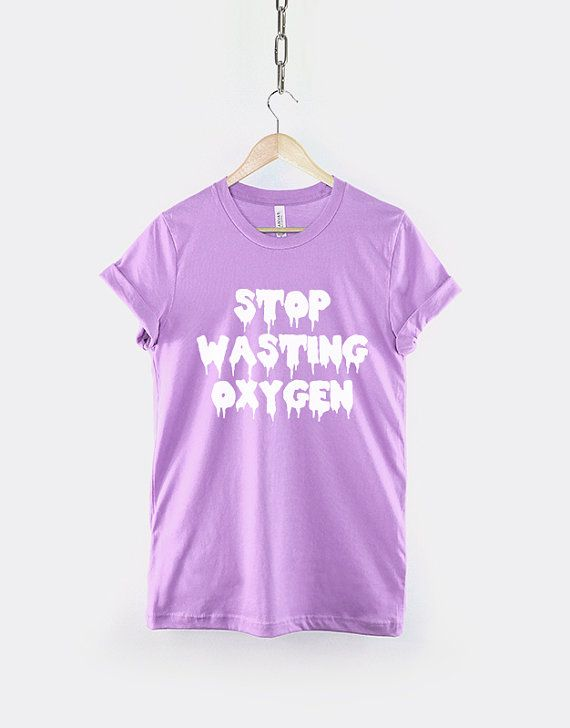 Pastel Goth Shirt  Stop Wasting Oxygen by ResilienceStreetwear