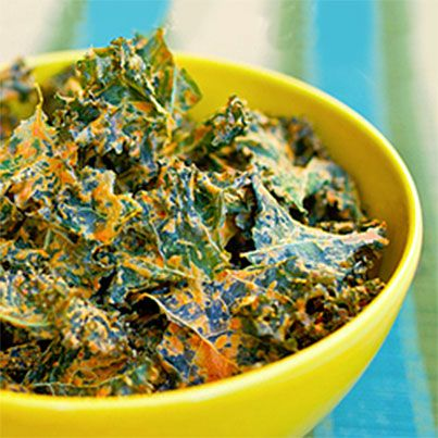 love Kale! Cheesy Kale Chips