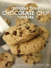 My Table For Eight {by Jen}: Almond Flour Chocolate Chip Cookies