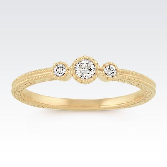 This delicate ring is a beautiful addition to your wedding set.
