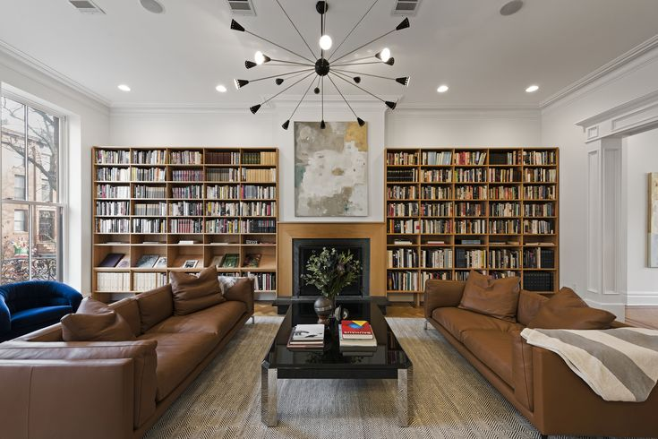"""Everything is Illuminated"" Author Jonathan Safran Foer Lists Brooklyn Brownstone and It's a Book Lover's Dream... Nestled on a picturesque tree-lined street in Boerum Hill is an incredibly chic, Greek Revival brownstone that is a book lover's dream and it could be yours."