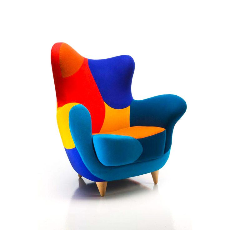 Carnival theme: masked and colourful pieces: Alessandra armchair, Javier Mariscal, Moroso, 1995 @morosofficial