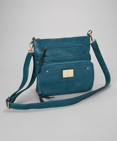 Take a look at this Teal Tassel Crossbody Bag by Adhesion, LLC on # ...