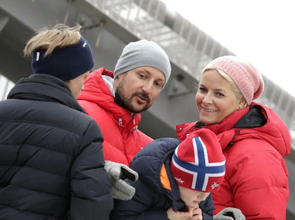 Marius Høiby, Prince Haakon, Princess Ingrid and Princess Mette Marit.......Royals Attend Holmenkollen in Norway....Posted on March 9, 2014 by HatQueen..