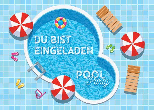 Produktbeschreibung Das Produkt Besteht Aus 4 Schonen Einladungskarten Geburtstag Basteln Kinder Einladungskarten Kindergeburtstag Gutschein Basteln Schwimmbad