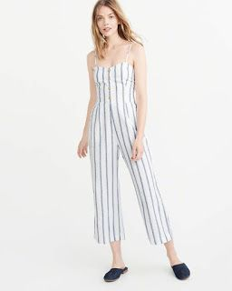 cd8a6726238b My Abercrombie   Fitch Collection  Button Cropped Jumpsuit by Abercrombie    Fitch