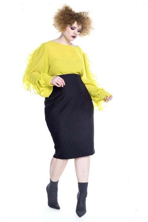 Новогодняя коллекция женской одежды больших размеров американского бренда Jibri 2017-18