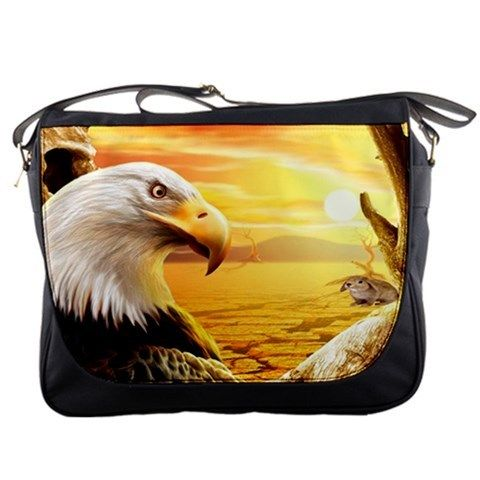Messenger bag Eagle and mouse best gift for husband, best gift for wife, best gift for girlfriend, best gift for grandma, best gift for grandchildren, best gift for sister, best gift for brother, best gift for son, best gift for daughter, best gift for boy, best gift for gift, best gift for mom, best gift for dad
