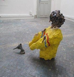 The Shell by Dong Zhigang // Haute Ecole des Arts du Rhin #dongzhigang #art #artist #sculture   #contemporaryart #shell #man More on Gojiki.com