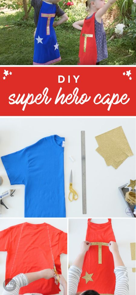 You really can't have a superhero party without making kids their own superhero capes. So check out this DIY tutorial to see how easy it is. The materials are easy to gather, and you don't have to sew a thing, but you do get to bring some of your own creativity to the party. This kid-friendly cape from Hallmark will be the hit of the party, and you'll be a hit for making them!