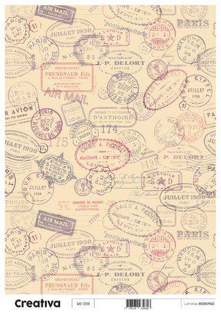 Laminas para decoupage Creativa vintage 116-208  30 x 21 cm