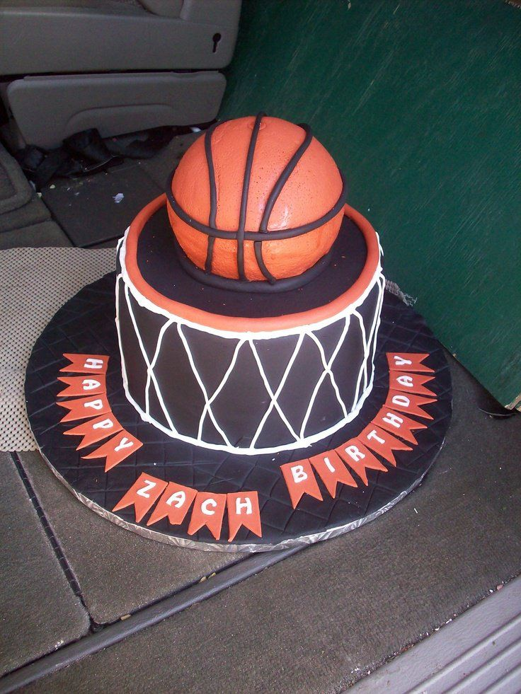 Best 25 Basketball Birthday Cakes Ideas On Pinterest