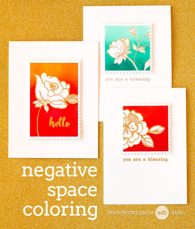 Welcome! Today's video is all about negative space coloring -- a great technique for getting new looks from your outline images. I am also part of a fun hop for a great new coloring challenge.