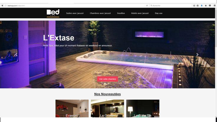 #weekendenamoureux #séjourromantique #HotelSpa avec plus de 200 chambres avec #jacuzzi #piscine #sauna #hammam http://www.bednspa.com