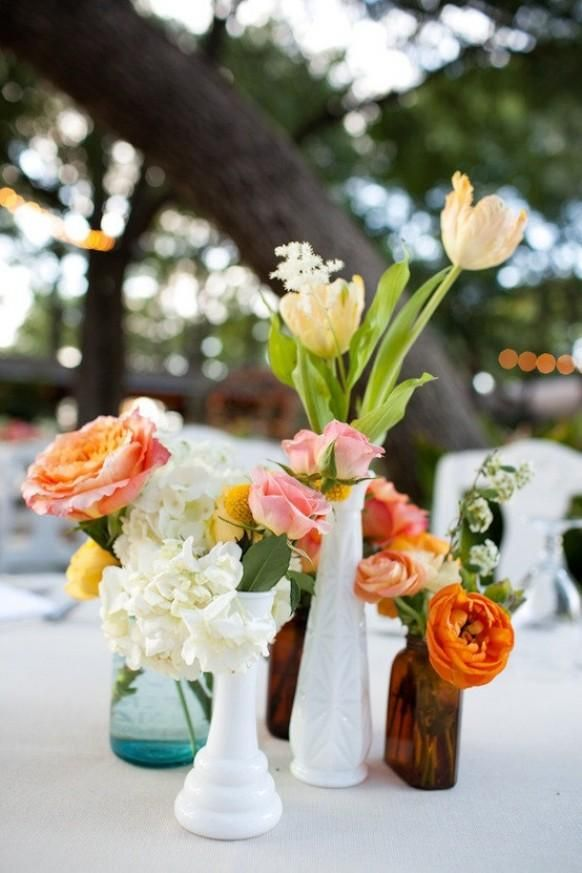 Centerpieces florista pinterest mercury glass jars