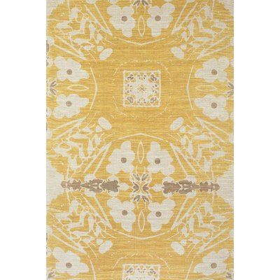 yellow area rug living room egyptian bungalow rose mikonos cotton products pinterest hand loomed size rectangle 2 x 3