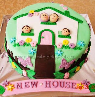 Cake Decorations New Home : 47 best images about New Home cake ideas on Pinterest ...