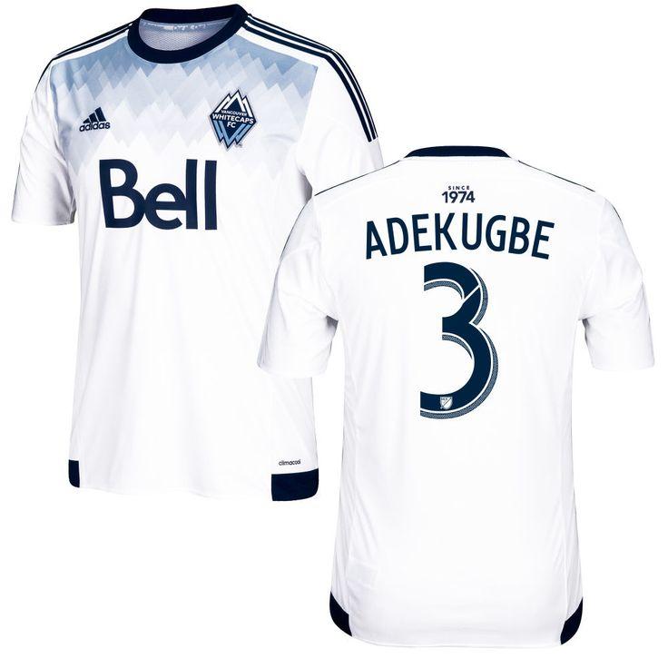 Sam Adekugbe 3 Vancouver Whitecaps FC 2016/17 Home Soccer Jersey Deep Sea White