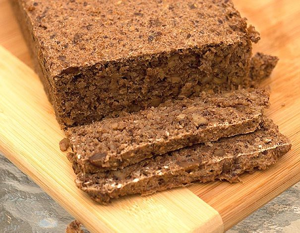 Walnut and Date Sprouted Wheat Essene Bread