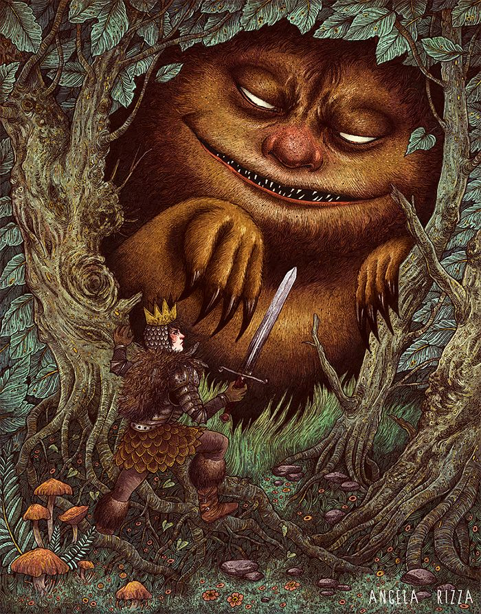 Where the wild things are | Illustrations by Angela Rizza