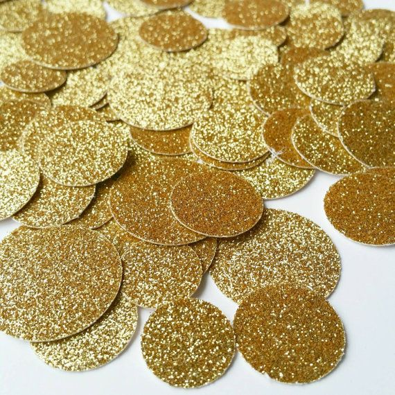 Gold Confetti Gold Circle Glitter Confetti by LivinCrafty