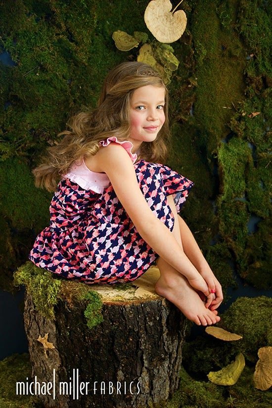 """fairytale girl dress in Cynthia Rowley Spring """"OH BABY!"""" fabric line for Michael Miller Fabrics; photo and style by Trenna Travis Design Studio"""