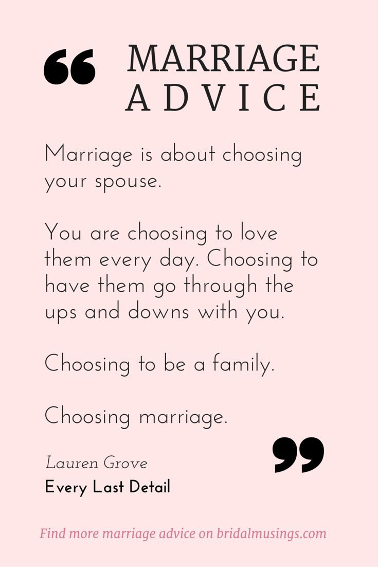 My Amount One Piece of Marriage Advice