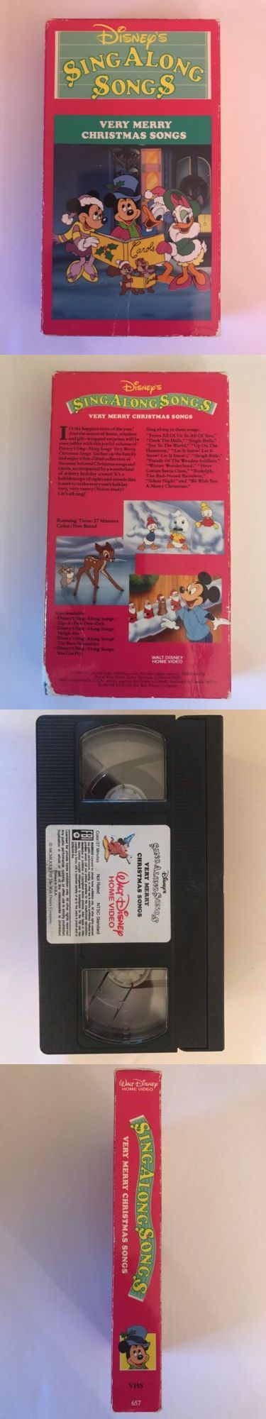 Christmas Songs And Album: Disney Sing Along Songs Very Merry Christmas Songs Vhs Movie Video BUY IT NOW ONLY: $0.99