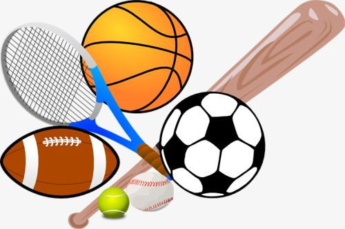 Cartoon Sports Equipment, Sports Clipart, Cartoon Clipart, Cartoon Motion  PNG Transparent Clipart Image and PSD File for Free Download | Recreation  therapy, Sports games, Sports clips