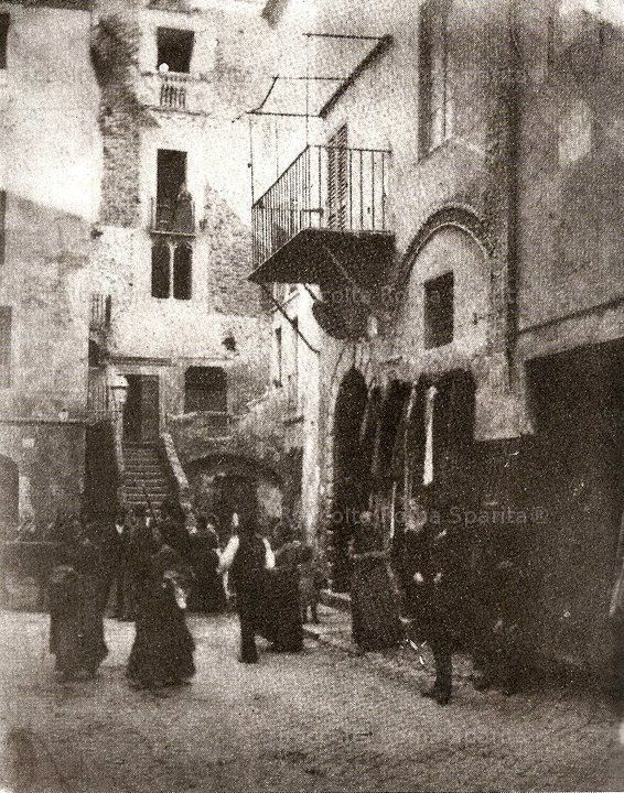 Roma Sparita - Ghetto - Case medievali 1880