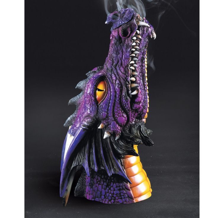 Purple Dragon Incense Burner - New Age, Spiritual Gifts, Yoga, Wicca, Gothic, Reiki, Celtic, Crystal, Tarot at Pyramid Collection