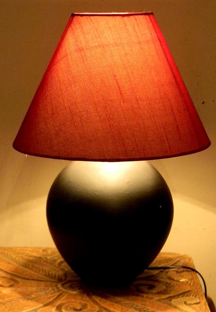 Red and black lamp from studio kanasu