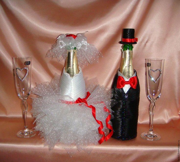 Купить Чехлы для шампанского Кармен. - свадьба, свадьба 2016, свадьба в красном цвете, свадебные аксессуары