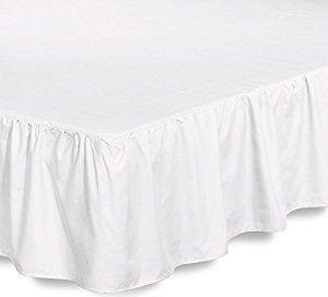 Bed Ruffle Skirt (Queen, White)