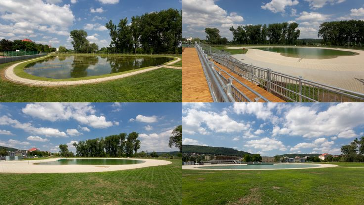 Radotín Swimming pool - A man-made water reservoir built right next to the Berounka River has a natural filtration system, where the water is cleansed by bioactive zones without resorting to chemicals.