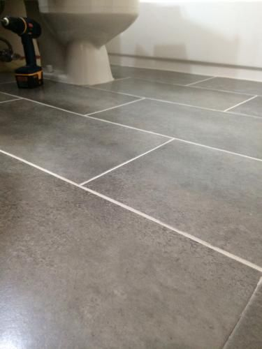 TrafficMASTER Ceramica 12 in x 24 in Coastal Grey