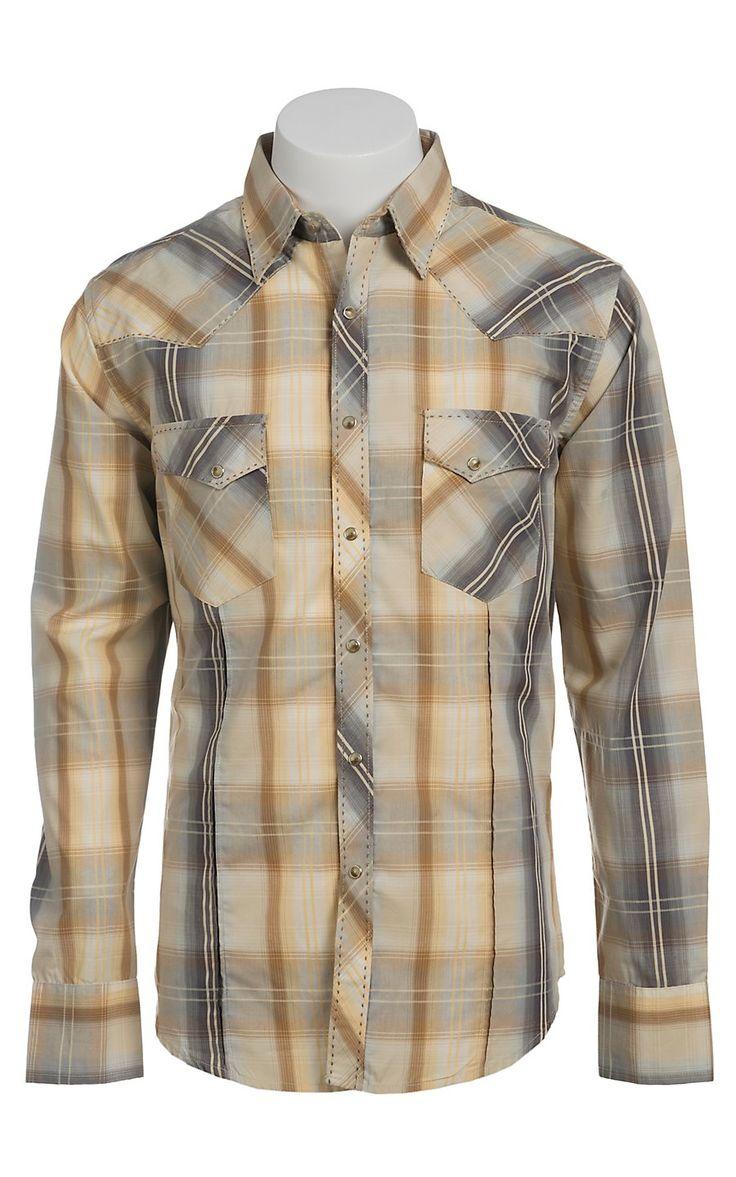 Wrangler Men's Snap Western Shirt MVG046M